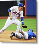 Wilmer Flores and Chris Coghlan Metal Print