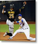 Wilmer Flores and Gregory Polanco Metal Print
