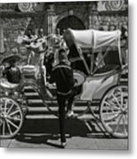 Wooden Carriage in Mexico Metal Print