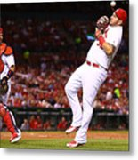 Yadier Molina and Matt Adams Metal Print
