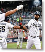Yangervis Solarte, Will Venable, and Matt Kemp Metal Print
