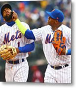 Yoenis Cespedes and Amed Rosario Metal Print
