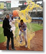 Yoenis Cespedes and Wilmer Flores Metal Print