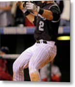 Yorvit Torrealba and Troy Tulowitzki Metal Print