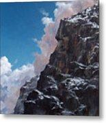 Yosemite cliff face Metal Print