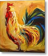 Yummy Rooster Metal Print