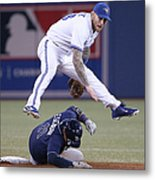 Yunel Escobar and Brett Lawrie Metal Print