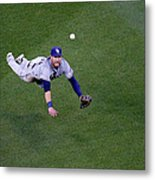 Yunel Escobar and Kevin Kiermaier Metal Print