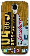 New Orleans Louisiana City Skyline Vintage License Plate Art On Wood Galaxy S4 Case by Design Turnpike