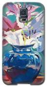 Lilies In Blue Galaxy S5 Case by David Lloyd Glover