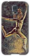 1307s-dancer Leap Fit Black Woman Bare And Free Galaxy S5 Case by Chris Maher