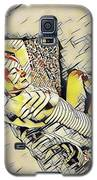4248s-jg Zebra Striped Woman In Armchair By Window Erotica In The Style Of Kandinsky Galaxy S5 Case by Chris Maher
