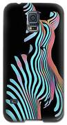 5278s-mak Zebra Striped Nude Woman Rendered In Composition Style Galaxy S5 Case by Chris Maher