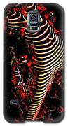 5807s-mak Abstract Nude Woman Bending Backwards Rendered In Red Oils Galaxy S5 Case by Chris Maher