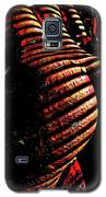 6799s-nlj Zebra Striped Nude Booty By Window Rendered As Abstract Oil In Reds Galaxy S5 Case by Chris Maher