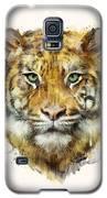 Tiger // Strength Galaxy S5 Case by Amy Hamilton