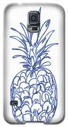 Blue Pineapple- Art By Linda Woods Galaxy S5 Case by Linda Woods