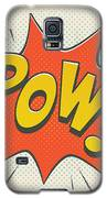 Comic Pow On Off White Galaxy S5 Case by Mitch Frey