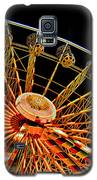 Glowing Ferris Wheel - Fractals Galaxy S5 Case by Ericamaxine Price