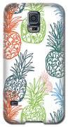 Happy Pineapple- Art By Linda Woods Galaxy S5 Case by Linda Woods