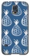 Indigo Pineapple Party Galaxy S5 Case by Linda Woods