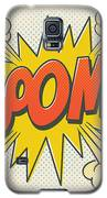 Comic Boom On Off White Galaxy S5 Case by Mitch Frey