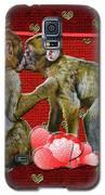 Kissing Chimpanzees Hearts Galaxy S5 Case by Rockin Docks Deluxephotos