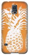 Orange And White Pineapples- Art By Linda Woods Galaxy S5 Case by Linda Woods