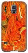 Orange Art Galaxy S5 Case by Colette V Hera Guggenheim