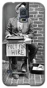 Poet For Hire, Portland, Maine  -31172-bw Galaxy S5 Case by John Bald
