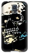 Skull Against A Dark Background Galaxy S5 Case by Nick  Biemans