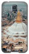 Stupa Temple Bodhnath Kathmandu, Nepal From Air October 12 2018 Galaxy S5 Case by Raimond Klavins