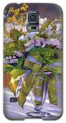 Flowers And Ribbons Still Life Galaxy S5 Case by David Lloyd Glover