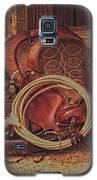 Head Wrangler's Saddle Galaxy S5 Case by Amanda Smith