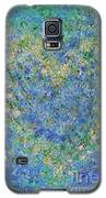 Heart In Blue Green And Yellow Galaxy S5 Case by Corinne Carroll