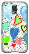 Hearts 1002 Galaxy S5 Case by Corinne Carroll