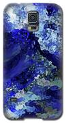Luka Abstract Blue 211 Galaxy S5 Case by Corinne Carroll