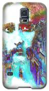 Monkey Painted Jesus In Italy Galaxy S5 Case by Catherine Lott