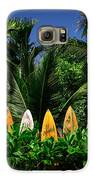 Surf Board Fence Maui Hawaii Galaxy S6 Case by Edward Fielding