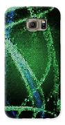 Abstract Green Galaxy S6 Case