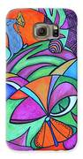 Abstract Kitty Galore Galaxy S6 Case by Carol Hamby