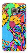 Abstract Peacock Galaxy S6 Case by Carol Hamby