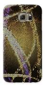 Abstract Yellow Galaxy S6 Case by Aya Murrells