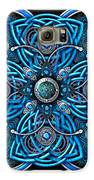 Blue And Silver Celtic Cross Galaxy S6 Case by Richard Barnes
