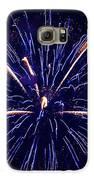 Blue Orange Fireworks Galveston Galaxy S6 Case