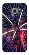 Blue Orange Red Fireworks Galveston Galaxy S6 Case