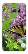 Butterfly On Lilac Galaxy S6 Case by Diane Mitchell