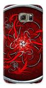 Celtic Dragons - Red Galaxy S6 Case by Richard Barnes
