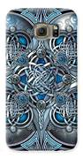 Celtic Hearts - Blue And Silver Galaxy S6 Case by Richard Barnes