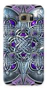 Celtic Hearts - Purple And Silver Galaxy S6 Case by Richard Barnes